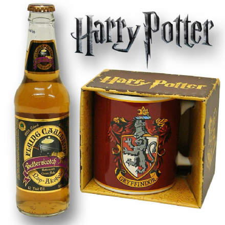 Harry Potter Gryffindor Mug with/without a Bottle of Butterscotch Beer